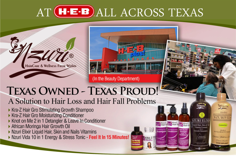Nzuri Locations in HEB Texas