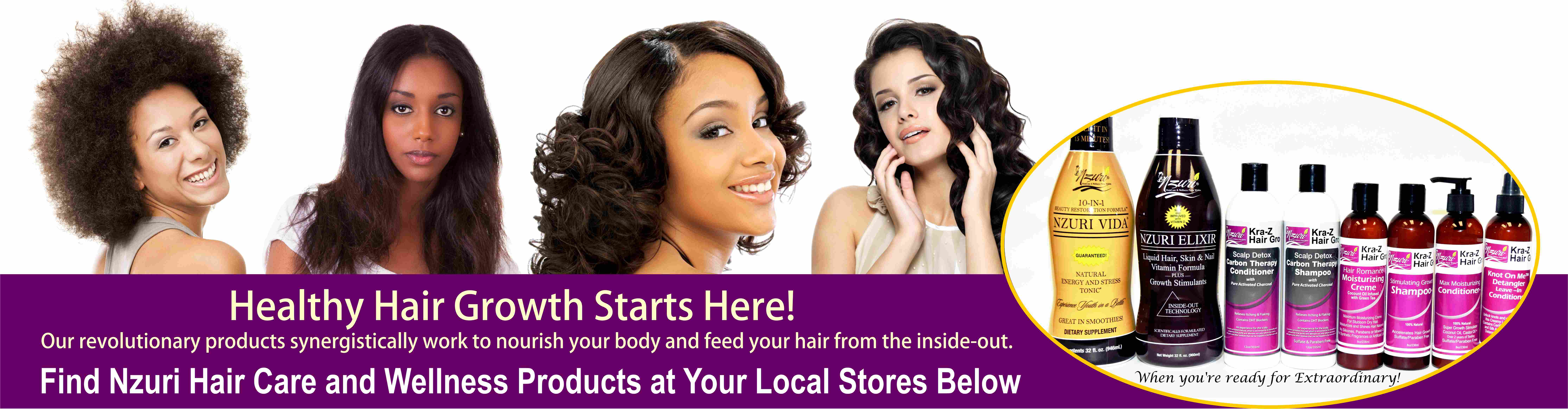 Nzuri Hair Care and Wellness Products at local store